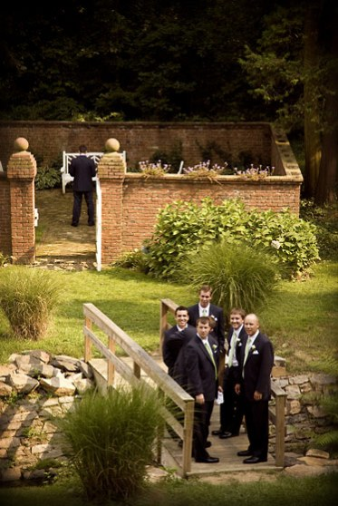 groom groomsmen evergreen
