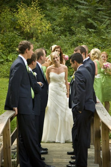bride groomsmen bridesmaids evergreen