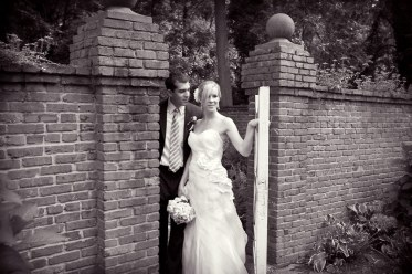 bride groom evergreen black and white